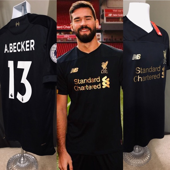 cheap for discount 2e40f c4a16 Liverpool Goalkeeper GK Jersey Alisson Becker #13 NWT